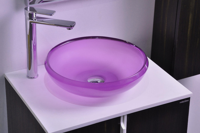 Bathroom Colored Resin Acyrlic WASH BASIN Vanity Sink COUNTER TOP Round  Vessel Sink 38278