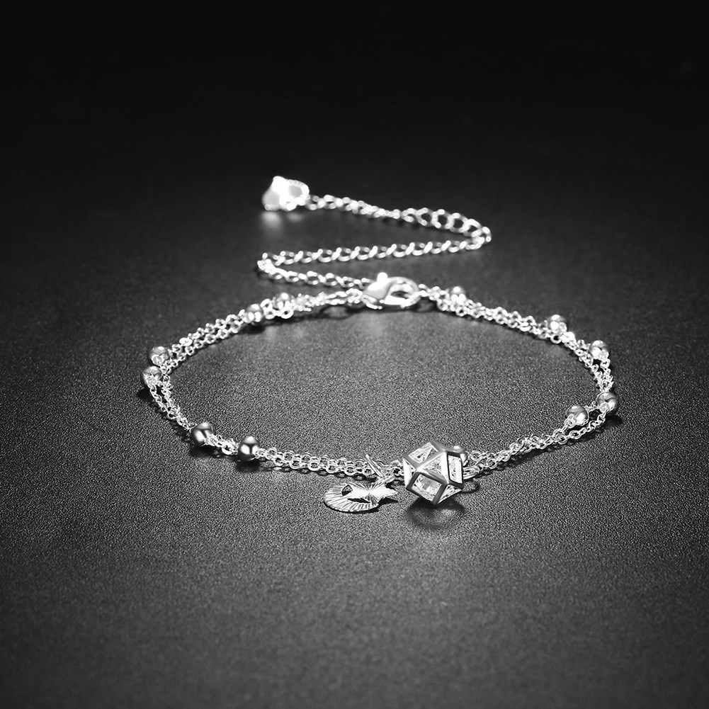 New Arrival Silver Plated Anklet for Women Bride foot chain Jewellery Supplier Wholesale Korea Personality