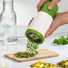 Кухонные аксессуары из нержавеющей стали гаджеты Инструменты для приготовления пищи лезвие зеленый лук измельчитель слайсер чеснок кориандр резак измельчитель s1233