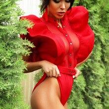 Ds Show Одежда новая атмосфера летающие рукава боди Женский сетчатый сшивание Цельный купальник певица Dj представление костюмы
