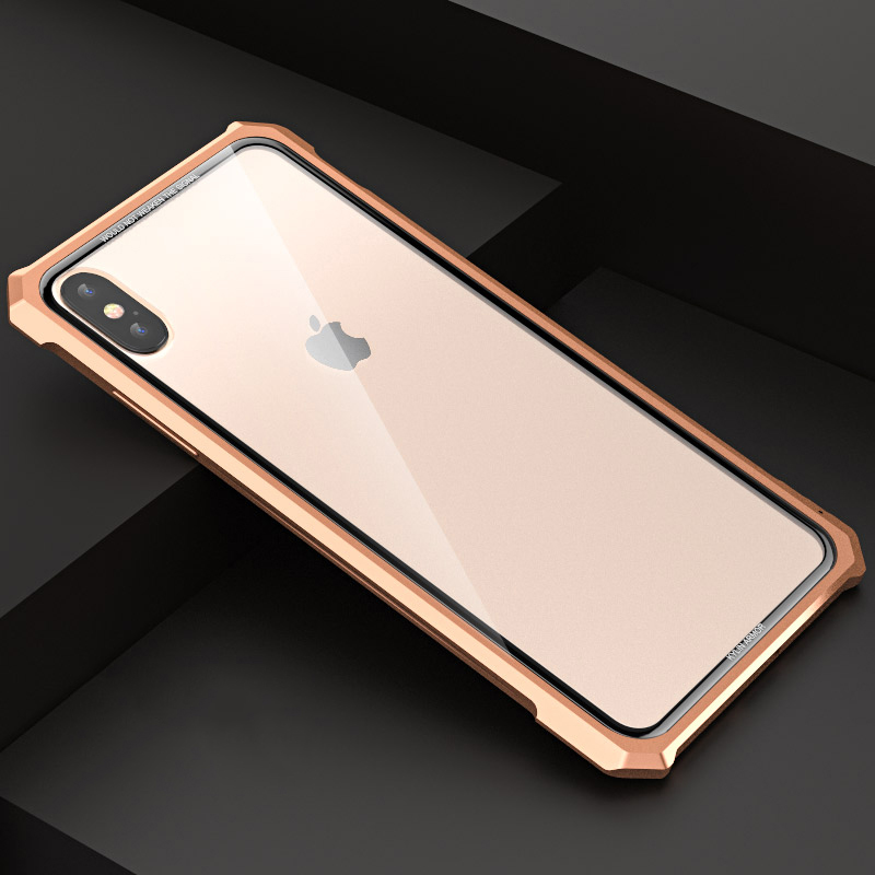 best service 4183e b3bba US $12.95 30% OFF|Luxury Metal bumper Case For iphone XS iPhone X XR XS MAX  Case Aluminum Frame 9H transparent Clear Tempered Glass Cover Fundas -in ...