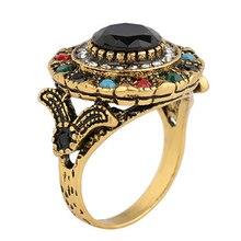 Vintage Ring Express Explosion models Bohemian Ring finger Ring Women Resin Ring Jewelry bohemian leaves circle finger ring
