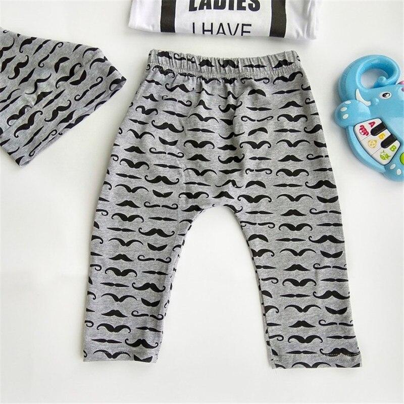 Newborn Clothing Set Baby Boys clothes Set Pcs Bow Tie Infant Clothes   Months Moustache