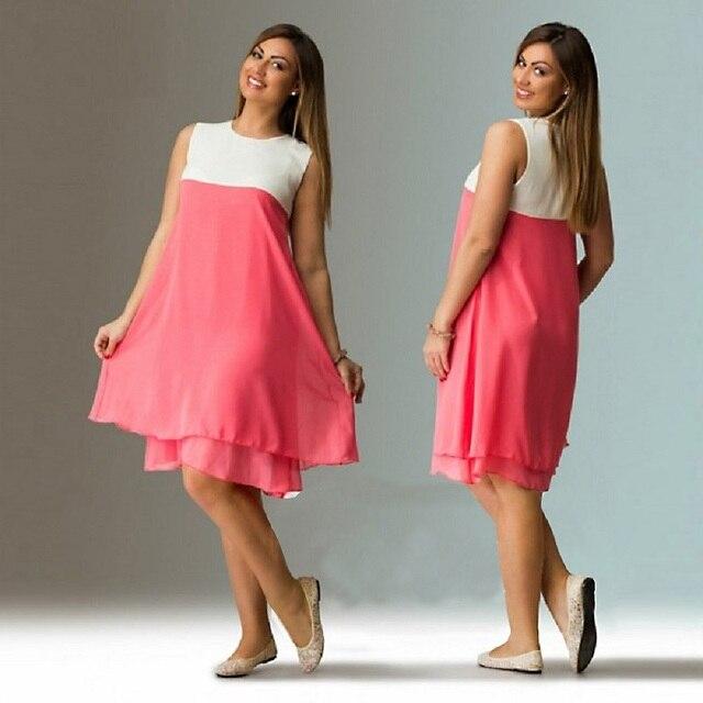 2017 большой Размеры 6XL женское платье летние свободные шифоновое платье плюс Размеры женская одежда 5XL большой Размеры Одежда для вечеринок Vestidos Сарафан