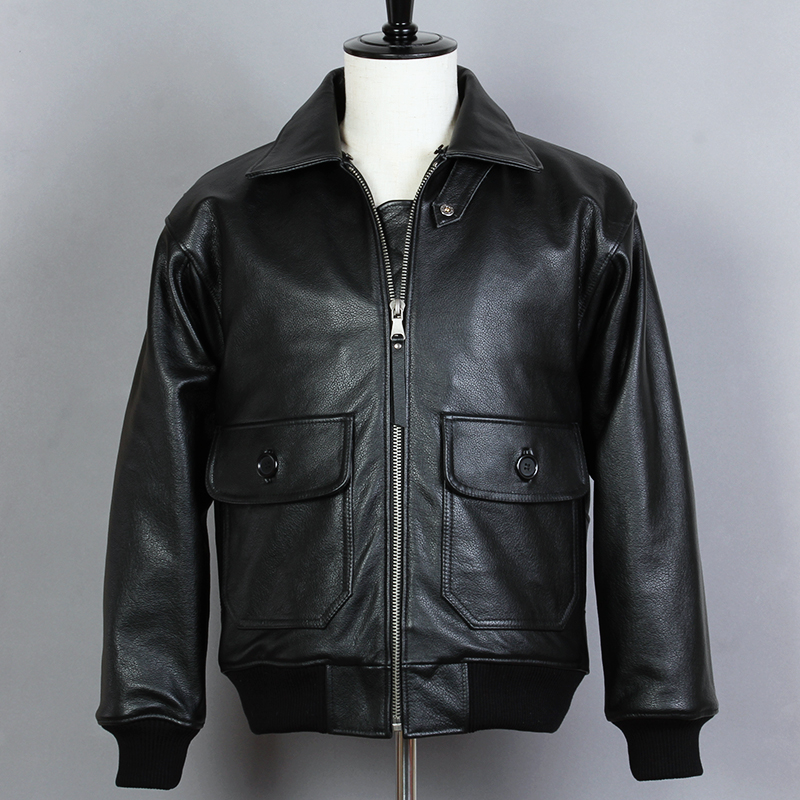 b4a8c8b90b9 Details about Avirex fly Fur Collar Genuine Leather Jacket Men Cowskin Coat  G1 Pilot Suit