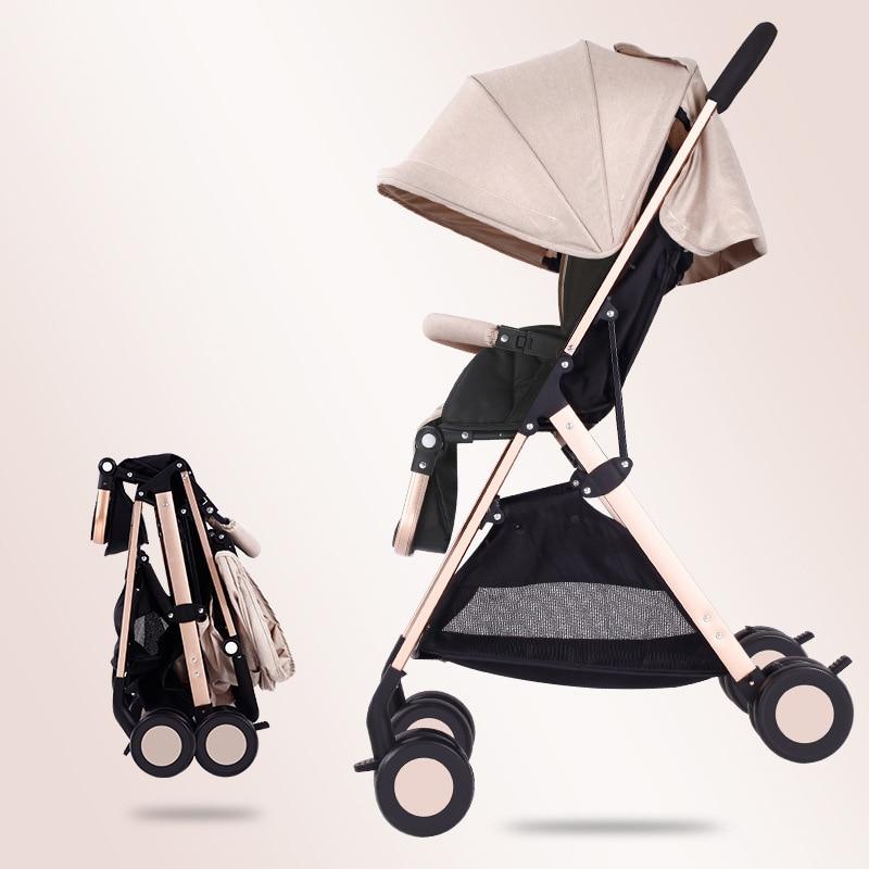 Быстрая доставка! Светильник для путешествий, детская коляска, 8 шт., подарки, переносная, может сидеть и лежать, складная детская коляска с высоким пейзажем - 2