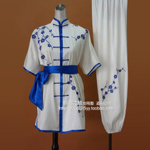 Customize Chinese wushu uniform Kungfu clothing Martial arts suit taiji sword clothes for women children kids girl embroidered