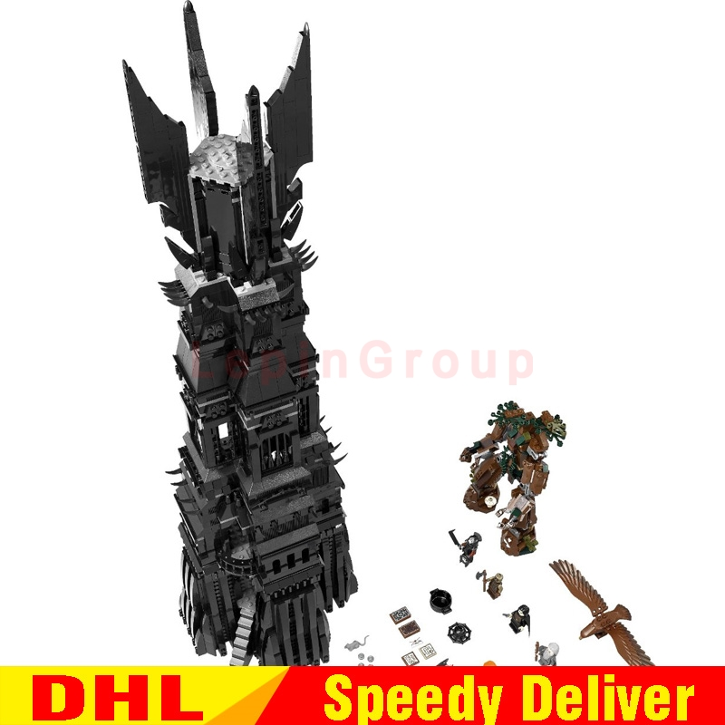 LEPIN 16010 2430Pcs Lord of the Rings The Tower of Orthanc Model Building Kits Set Blocks Bricks lepinings Toys Gift Clone 10237