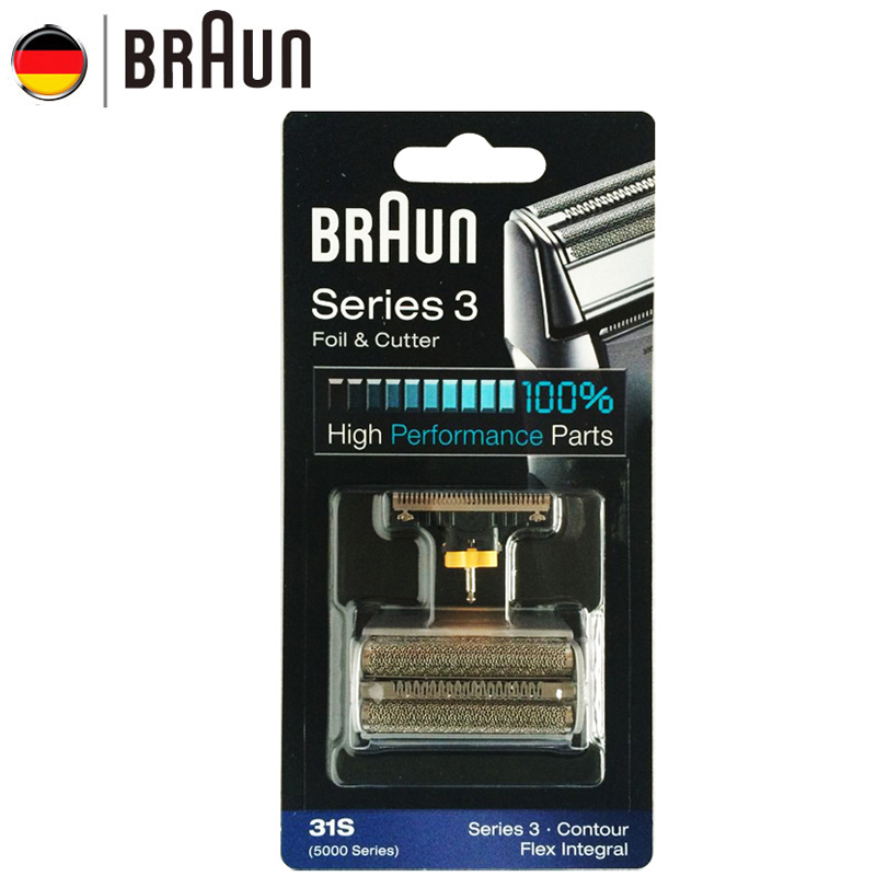 Braun Electric Razor Blade 31S Shaver Replacement for 5000 Series Electric Sahver ( 5775 5875 5877 5895 6520 5000 ) Silver Color