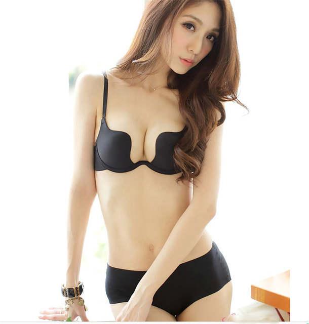 MUKATU Deep U Low Cut Push Up Women Lingerie U Bra Backless Underwear Plunge  Sexy Bras. placeholder ... e47fcaab1