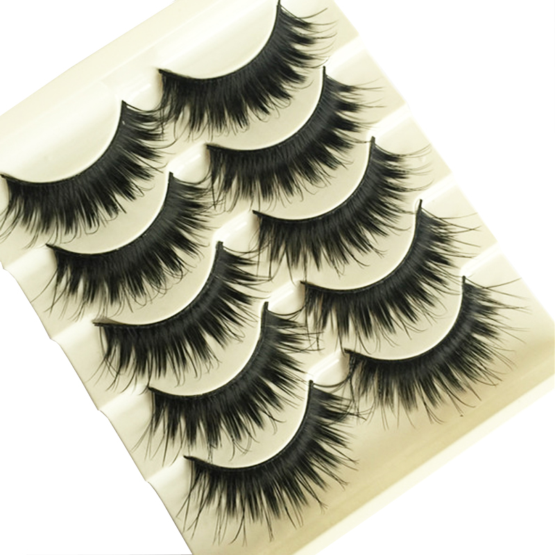 10Pairs Thick Cross Eyelashes Makeup Eye Lashes False Eyelashes Extensions Professional Makeup Tips Natural Lashes False Eyelash