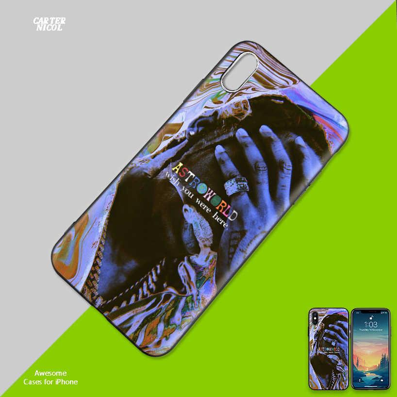 Hip Hop Travis Scott Soft Black Silicone Case Cover voor iPhone 7 8 XS Max XR X 6 6S 5 5C 5S SE Plus Terug Beschermende Fundas Coque