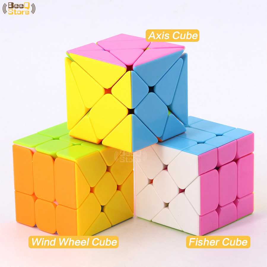 Axis Magic Cube Change Irregularly Jinggang Cube Wind Wheel Cube 3x3 Fisher Cube Stickerless 3x3x3 Cubo Magico Colorful Body