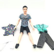 1 set 14 Moveable Jointed Dolls for Girls with 3pcs Clothes Doll Accessories Ken Naked Nude Male Body Toys For Children Gifts a toy a dream moveable 14 joints prince nude doll body 1 6 naked man body with head shoes for ken male doll s toys doll gift