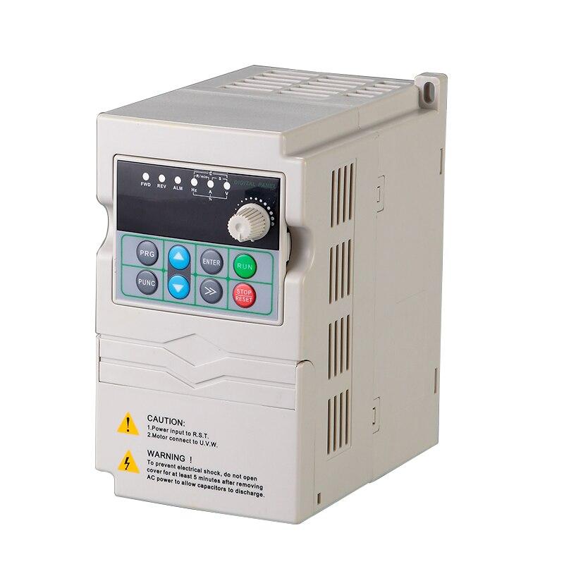 DMC880 мини преобразователь частоты 0,75 1,5 2.2kw 220 В однофазный 380 В 3 фазы Вход преобразователь частоты VFD