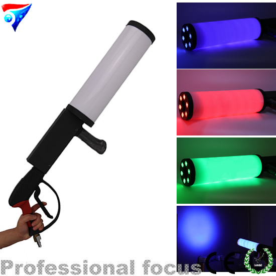 Free Shipping LED Co2 Gun DJ Lights 3Meter Hose LED CO2 Jet Machine Dj Gun Disco Lighting Stage Atmosphere Equipment цена