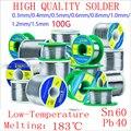 Япония SANKI 60/40 провод низкая температура плавления канифоли ядро припоя провода рулон 100 г/0 3/0 4/0 5/0 6/0 8/1 0/1 2 мм