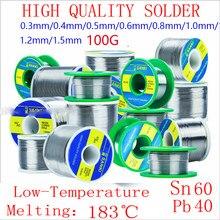 SANKI – rouleau de fil à souder japonais 60/40, à bas point de fusion, noyau de colophane, 100g/0.3/0.4/0.5/0.6/0.8/1.0/1.2mm