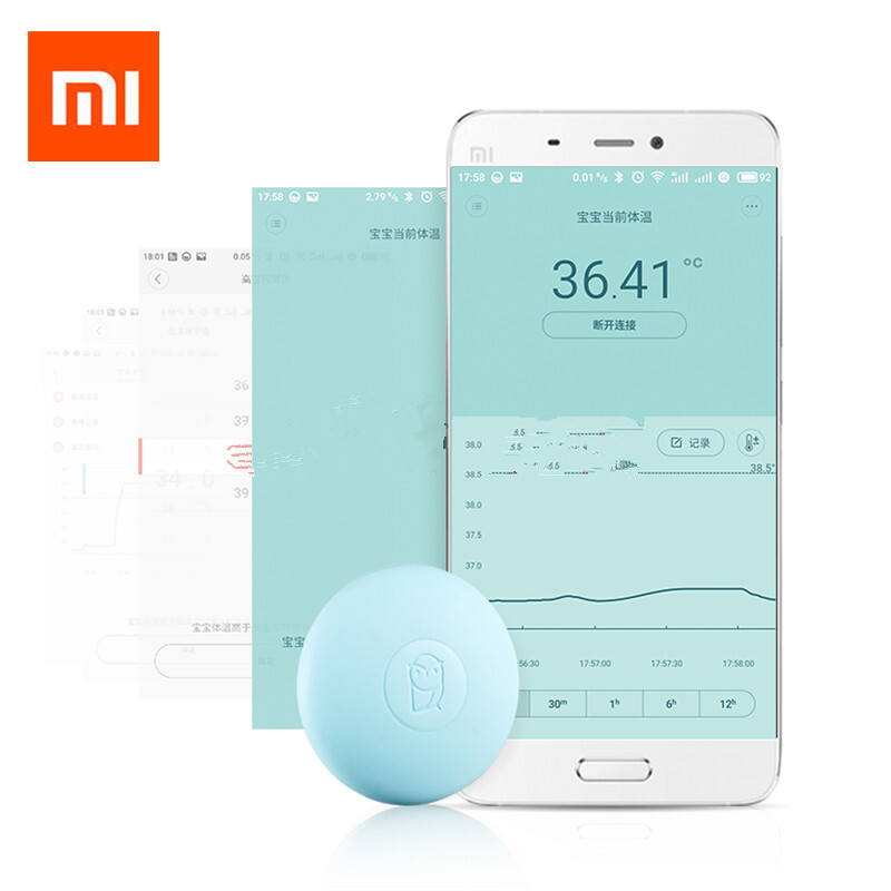 Xiaomi Miaomiaoce Baby Thermometer Smart Digital Thermometer Clinical Accrate Measurement Constant Monitor High-Temprature Alarm clinical