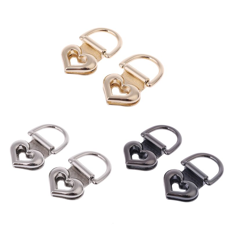 2Pcs Metal Heart Shape Clasp Turn Lock Twist Locks For DIY Craft Replacement Handbag Shoulder Bag Purse Hardware Accessories