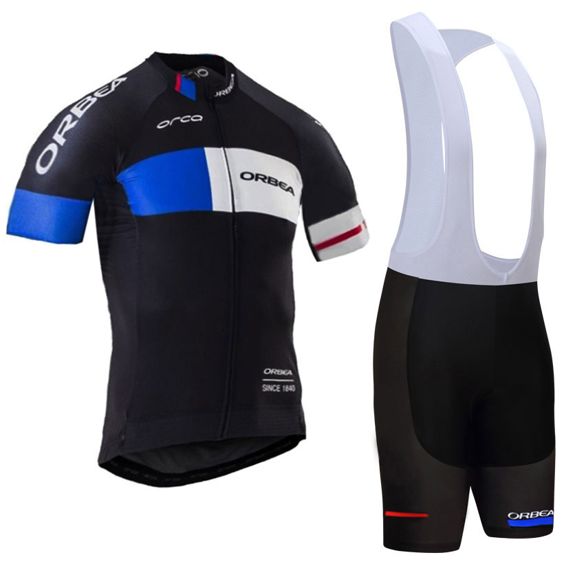 Factory direct sale: Mens Summer Black ORBEA Team Breathable Bike Riding Jersey Ciclismo Maillot Cycling Gel Breathable Pad