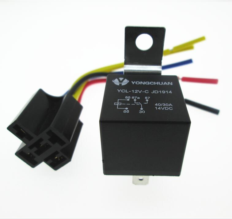 New Auto Car 12v Relay Jd1914 Waterproof Spdt Relay Base