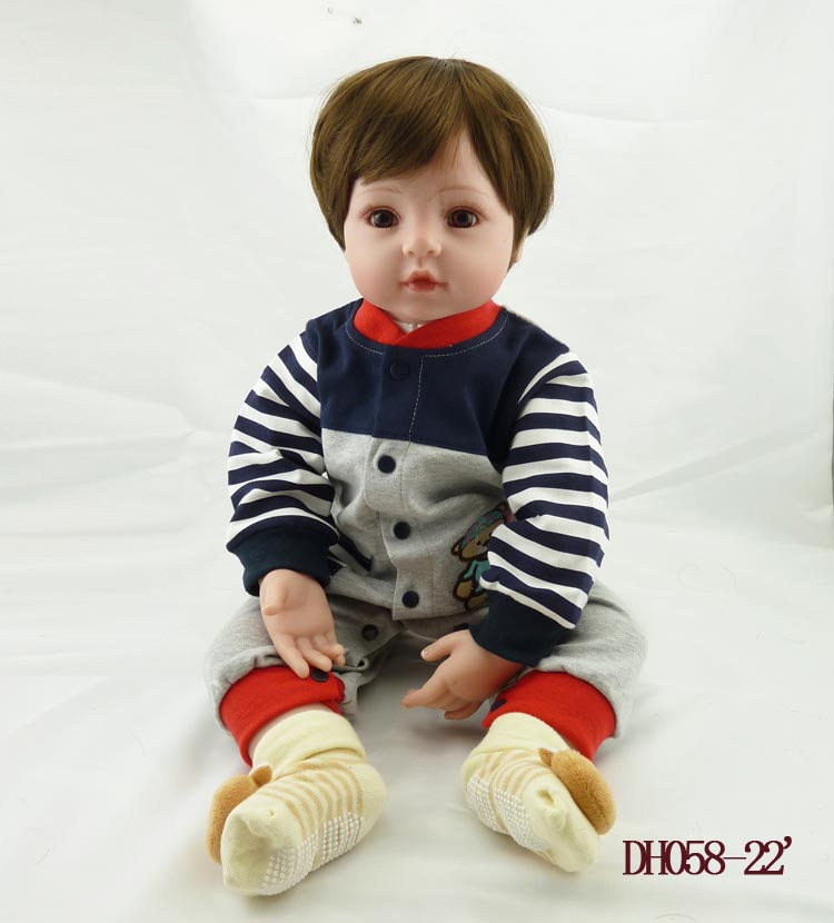 Hot sale 52cm silicone reborn baby dolls accompany lifelike vinyl toddler early newborn baby dolls best new year christmas gift best new product on sale 30