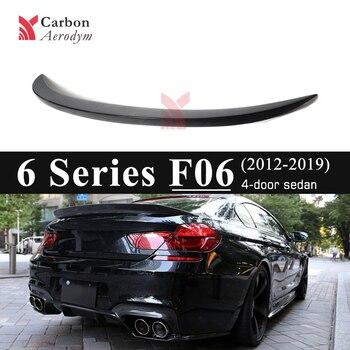 Pour BMW série 6 F06 F06 M6 4 portes berline en Fiber de carbone brillant noir voiture partie arrière aileron aile arrière en ventes