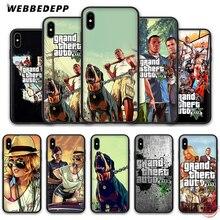 WEBBEDEPP Grand Theft Auto GTA V Мягкий силиконовый чехол для iPhone 8 7 6S 6 Plus 11 Pro XS Max XR X 5 5S SE