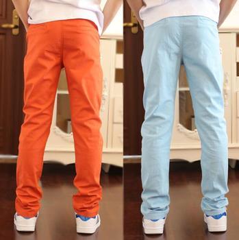 70eae53c0 7 colores nuevos 2018 primavera otoño niños pantalones algodón niños  pantalones moda niños ropa niño casual Delgado escuela adolescentes  pantalones
