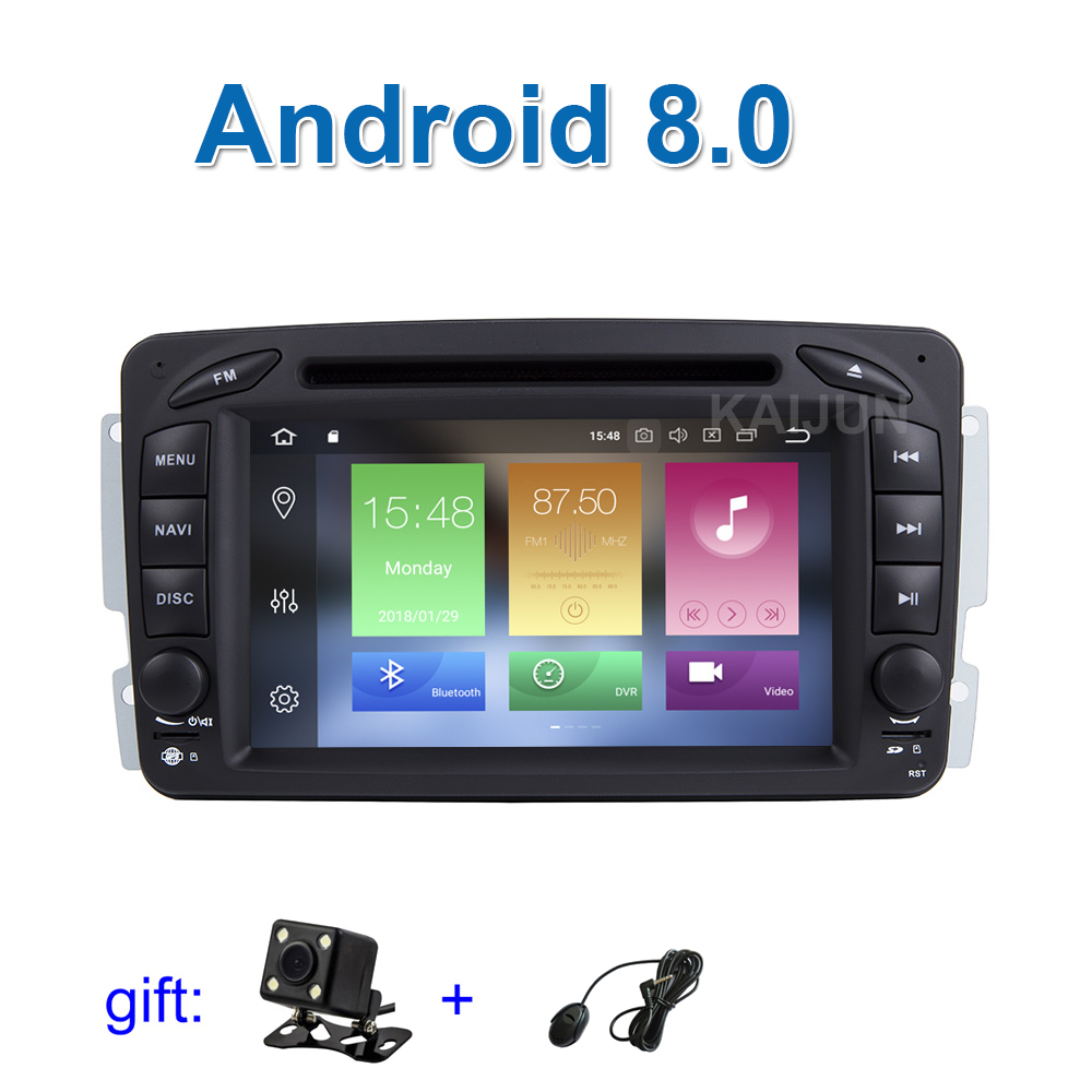 IPS screen Android 8.0 Car DVD Multimedia Player for Benz C Class W203 W209 W463 W639 W163 Viano Vito with Radio WiFi BT GPS