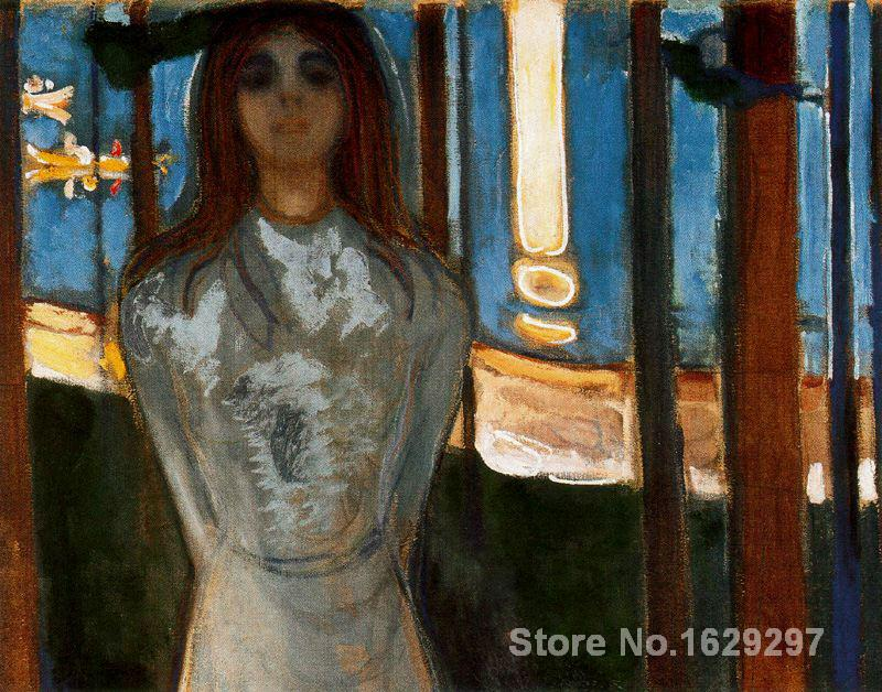 oil Painting modern The Voice Summer night Edvard Munch Hand painted High qualityoil Painting modern The Voice Summer night Edvard Munch Hand painted High quality
