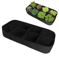 8 Grids Vegetable Flower Planting Container Nursery Pot Growth Bag Garden Tool