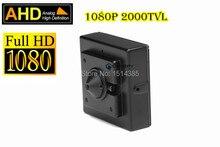 Alta Calidad 1080 P Mini Cámara Estenopeica Miniatura AHD AHD Cámara 2000TVL 2.0 Megapíxeles AHD CCTV Cámara de Interior de Seguridad Mini cámara