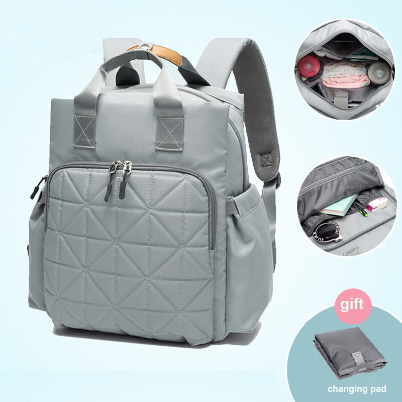 Fashion Mom Diaper Shoulder Backpack Baby Nappy Bag with Changing Pad /& Stroller