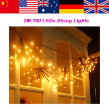 Clearance LED String Lights DIY Hand-Made 2M 100 LEDs Waterproof Fairy Lights with 8 Lighting Modes High Quality(China)