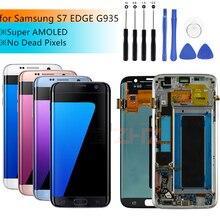 AMOLED Dành Cho Samsung Galaxy Samsung Galaxy S7 Edge Màn Hình Hiển Thị LCD Bộ Số Hóa Cảm Ứng Bộ Số Hóa Màn Hình LCD G935 G935F Có Khung Chi Tiết Sửa Chữa