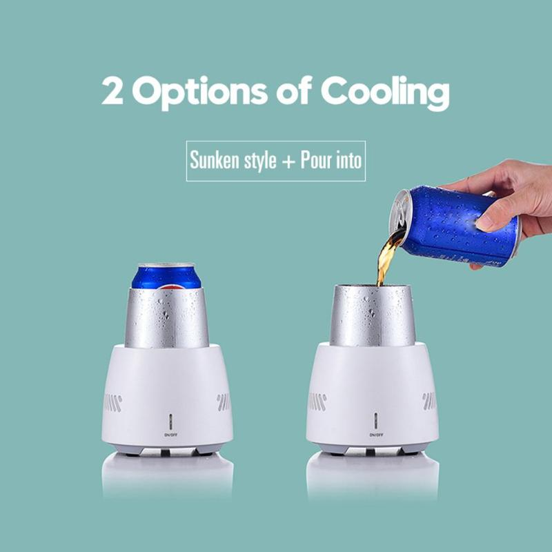 100-240V Mini Electric Refrigerator Cup Instant Cooling Cups Fridge Cooler For Home Office Travel Fridge Cup