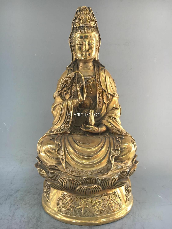 19 brass folk home fengshui buddhism Kwan-yin Guanyin Avalokitesvara statue19 brass folk home fengshui buddhism Kwan-yin Guanyin Avalokitesvara statue