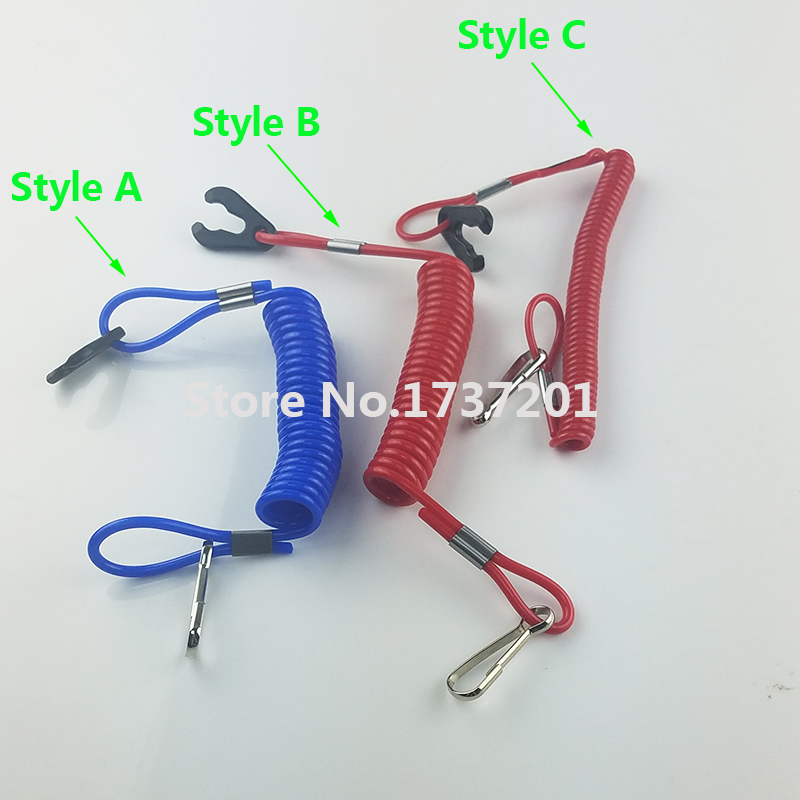 2PCS Engine Kill Stop Tether Lanyard Closed Safety Switch For Dirt Bike ATV Quad