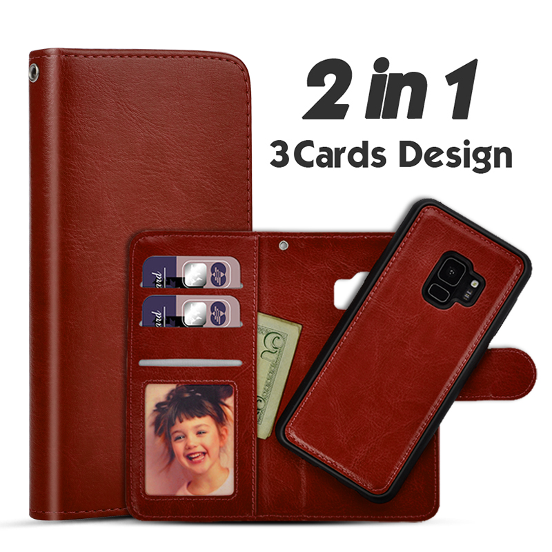 LANCASE For Samsung <font><b>Galaxy</b></font> S7 Edge <font><b>Case</b></font> Wallet Flip Detachable <font><b>Leather</b></font> <font><b>Case</b></font> For Samsung <font><b>Galaxy</b></font> <font><b>S9</b></font> S8 S7 S6 Note 9 <font><b>Case</b></font> Cover image