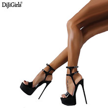 Size 34-46 Women s Sandals With Heels Vogue Gladiator Women Sandals  Platform Womens Summer Shoes Sexy High Heels Ladies Shoes a2b9e3150b49