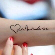 Новинка, стильная хна для татуировки, поддельные татуировки, флеш-тату, Временные татуировки, наклейка для мужчин, TaTy tatuagem, татуировки I love you, WM011