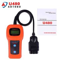5PCS / LOT U480 OBD2 CAN BUS/ Engine Code Reader memoscan U480 code reader U480 OBD2 OBDII Car or Truck AUTO Diagnostic Scanner