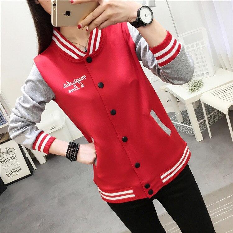New Kpop Baseball Jacket Women College Jacket Fashion Hoodies Woman Coat Fashion New Hoodies Sweatshirt Plus Size M-5XL