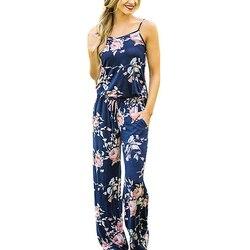 Women sleeveless party playsuit ladies romper long floral print jumpsuit elegant spaghetti strap jumpsuits lj9929r.jpg 250x250