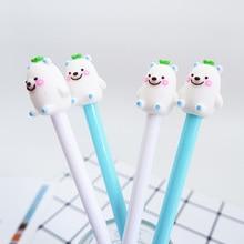 2pcs/lot kawaii Yellow people neutral pen 0.5 cute gel pen stationery canetas material escolar office school supplies papelaria цена