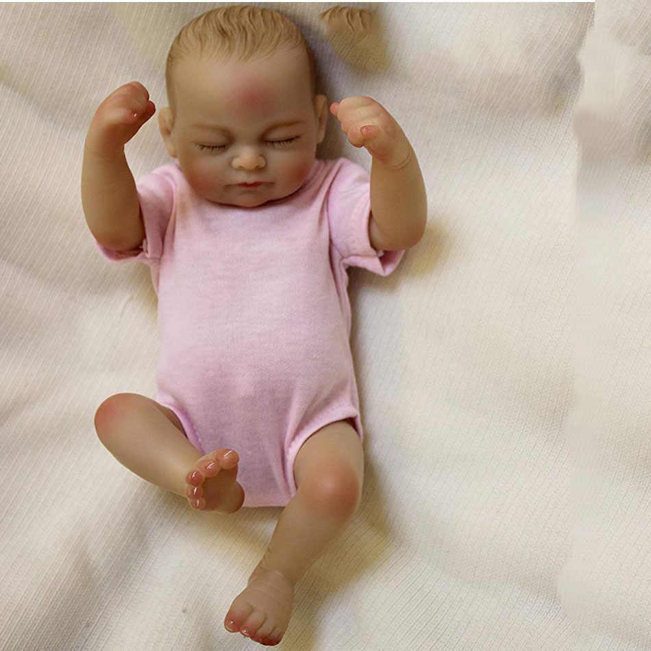 """OtardDolls кукла новорожденного ребенка 10 """"полный slicone reborn очаровательные детские куклы картина ручной работы волосы подарок Bonecas игрушка для ванной"""