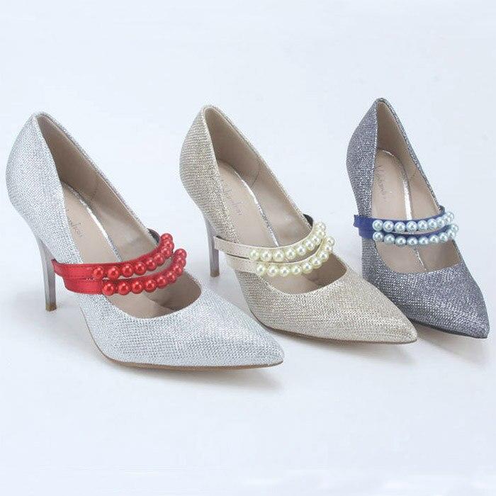 Herzhaft 5 Paris/lot Für Dame Süße Stil Gürtel Qualität Nachahmungen Von Perlen Perlen Schuh Band Ankle Band Schnürsenkel Schuhe