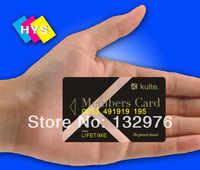 Przezroczyste pcv wizytówki lub przezroczystego tworzywa sztucznego zasilania karty
